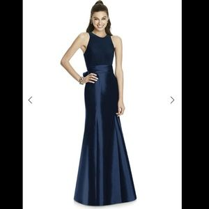 Alfred Sung D737 Midnight Floor Length Dress 12